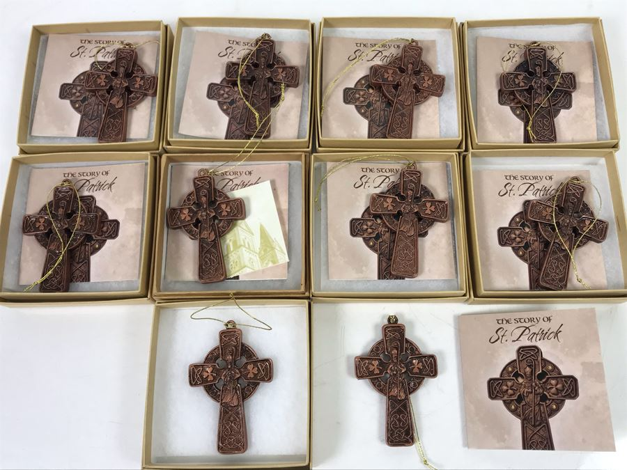 (10) St. Patrick's Cross Ornaments $120 [Photo 1]