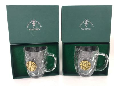 (2) New Celtic Knot Robert Emmet Tankards Retails $50