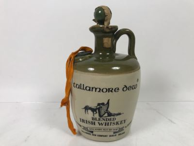 Vintage Irish Tullamore Dew Blended Irish Whiskey Jug
