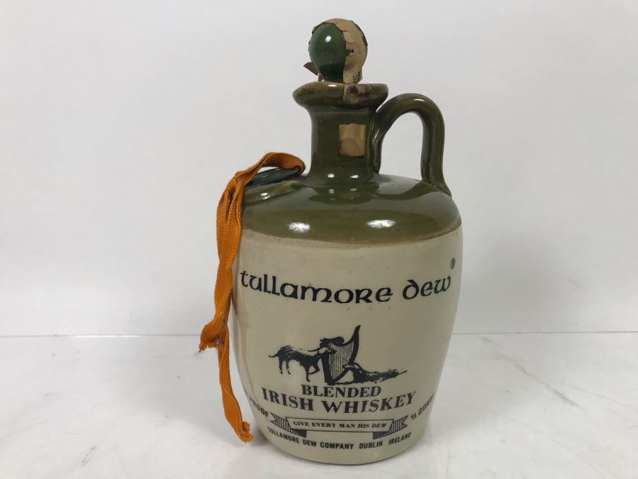 Vintage Irish Tullamore Dew Blended Irish Whiskey Jug [Photo 1]