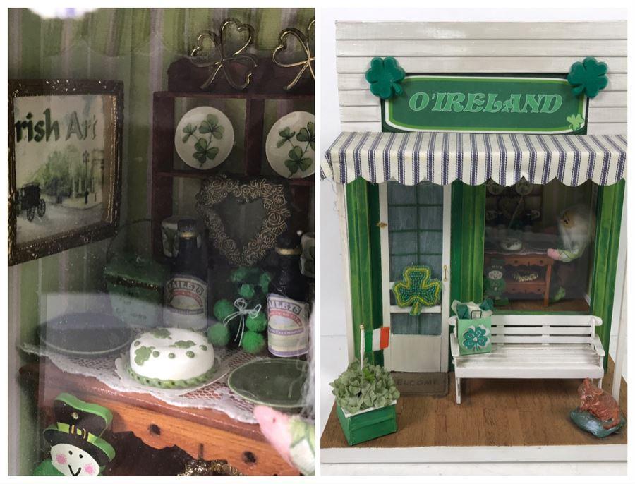 O'Ireland Themed Small World Miniature Irish Home Display Model With Bailey's Irish Cream, Beleek, Furniture [Photo 1]
