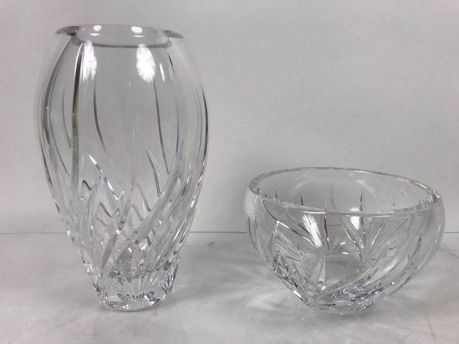 (2) Marquis By Waterford Crystal Vase 7'H And Bowl 3'H [Photo 1]