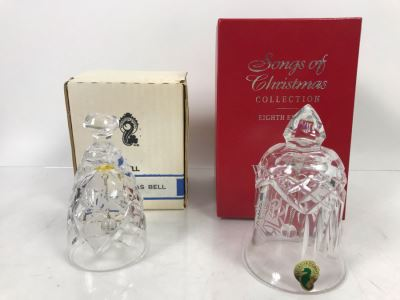 Pair Of Waterford Crystal Bells With Boxes