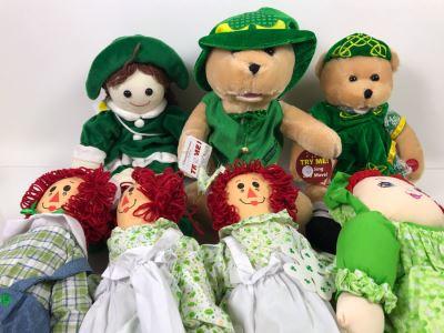 New Irish Rag Dolls And Irish Bears Retails $184
