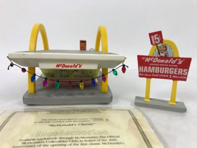 McDonald's McMemories Limited Edition Cermaic Sculpture 40th Anniversary Of The First Classic McDonalds