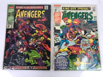 Vintage Marvel Comics Group The Avengers King-Size Special #2 And #4