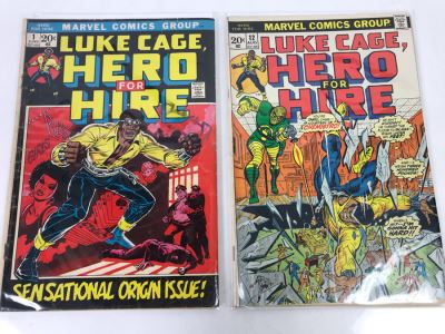 Vintage Marvel Comics Group Luke Cage, Hero For Hire #1 And #12