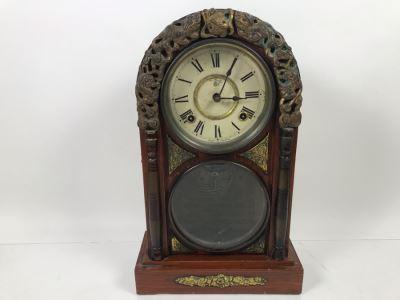Rare Japanese Imperial Quality Horse Mark Clock By The Owari Clocks Company