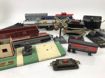 Vintage American Flyer Trains And Train Components Including (2) American Flyer Train Transformers