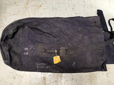 Vintage Air Force Blue Duffel Cotton Bag Robert Lang U.S. Air Force
