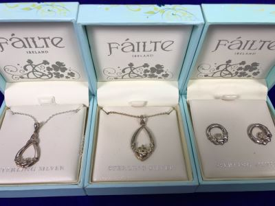 Failte Ireland Sterling Silver Pendant Necklaces And Earrings By Solvar Jewelry Retails $210