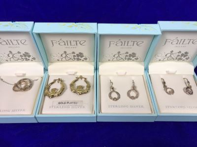 Failte Ireland Sterling Silver Pendant Necklace And Earrings By Solvar Jewelry Retails $332