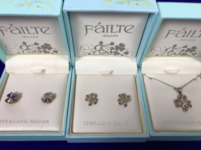 Failte Ireland Sterling Silver Pendant Necklace And Earrings By Solvar Jewelry Retails $230