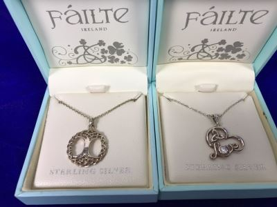 Failte Ireland Sterling Silver Pendant Necklaces By Solvar Jewelry Retails $163