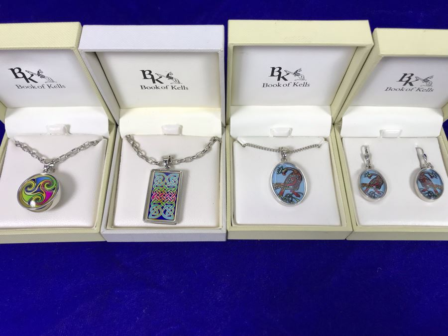 Book Of Kells Ireland Pendant Necklaces And Earrings Retails $234 [Photo 1]