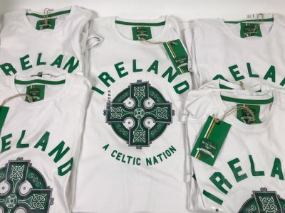 (8) New T-Shirts 'Ireland A Celtic Nation' - See Photos For Sizes - Retails $240