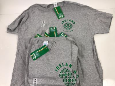 (7) New T-Shirts 'Ireland A Celtic Nation' - See Photos For Sizes - Retails $210