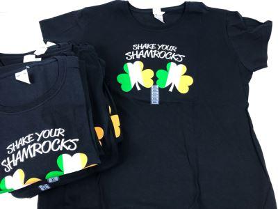 (17) New T-Shirts 'Shake Your Shamrocks' - See Photos For Sizes - Retails $357