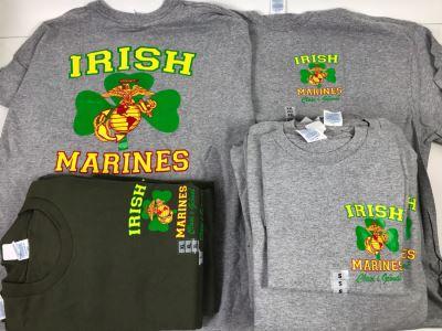 (18) New T-Shirts 'Irish Marines' - See Photos For Sizes - Retails $378