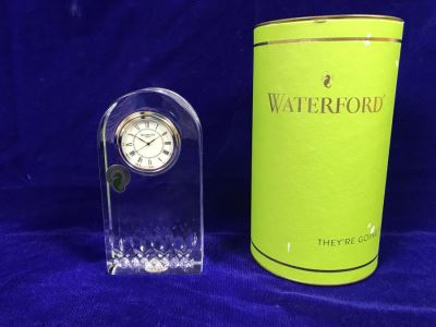 Just Added - Waterford Crystal Lismore Essence Clock With Box Retails $175