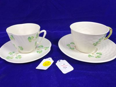 Just Added - Pair Of Belleek Cups & Saucers Retails $150