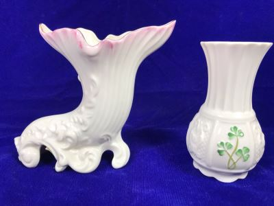 Just Added - Belleek 160th Anniversary Limited Edition Fermanagh Vase And Belleek Nadine Vase