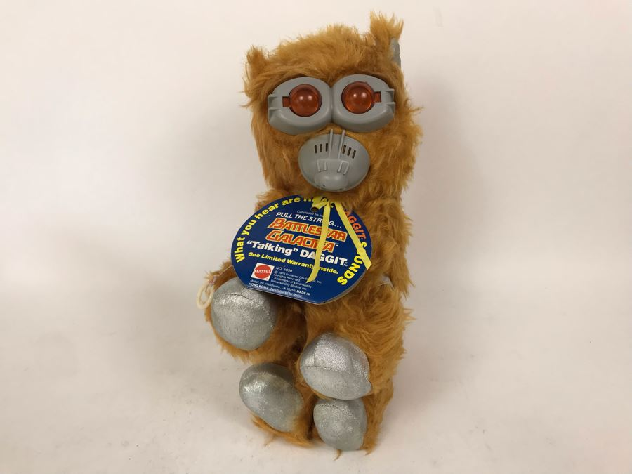 1979 Battlestar Galactica 'Talking' Daggit Plush Toy No. 1038 Pen Marked Sample Not For Sale - Draw String Stuck [Photo 1]