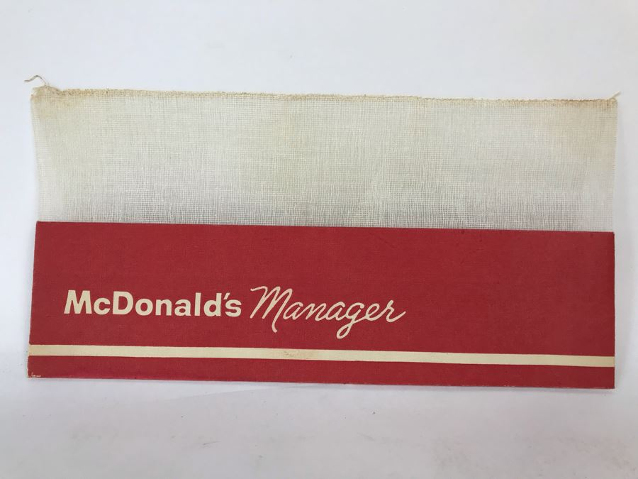 Vintage Mid-Century McDonald's Manager Paper Hat [Photo 1]