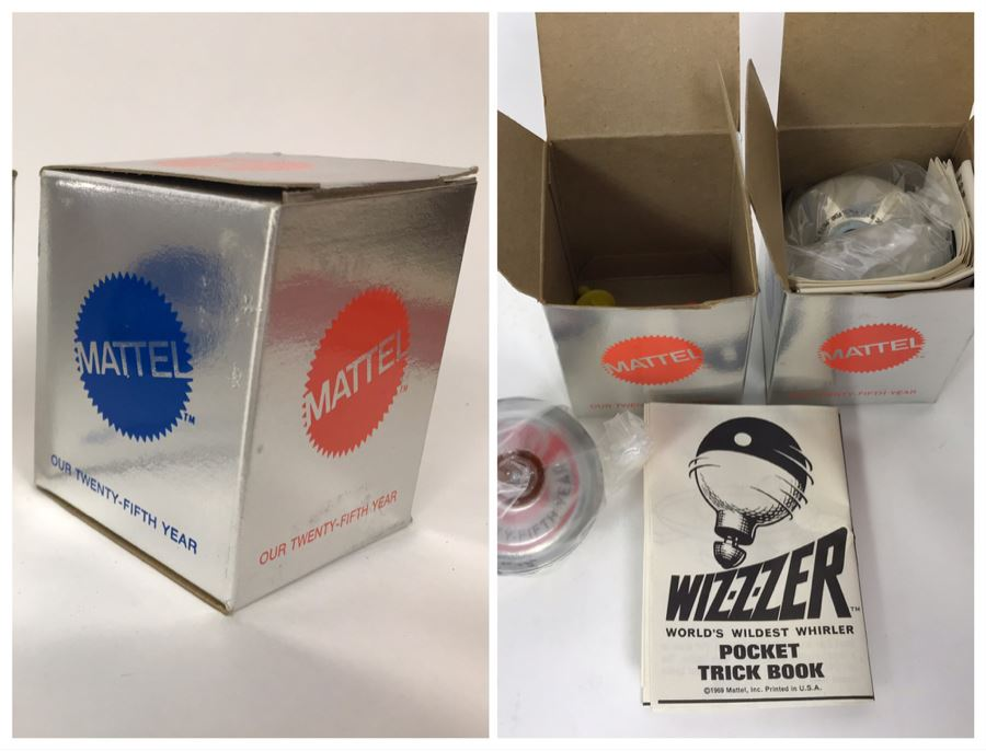 Pair Of New Twenty-Fifth Year Anniversay Mattel Wizzzer Toys - World's Wildest Whirler