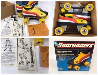 Vintage 1978 Mattel Sunrunners Roller Skates New In Box Size 11-13