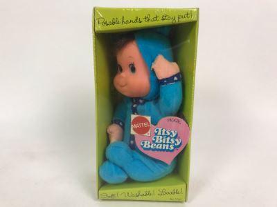 Vintage 1973 Mattel New In Box Itsy Bitsy Beans Doll