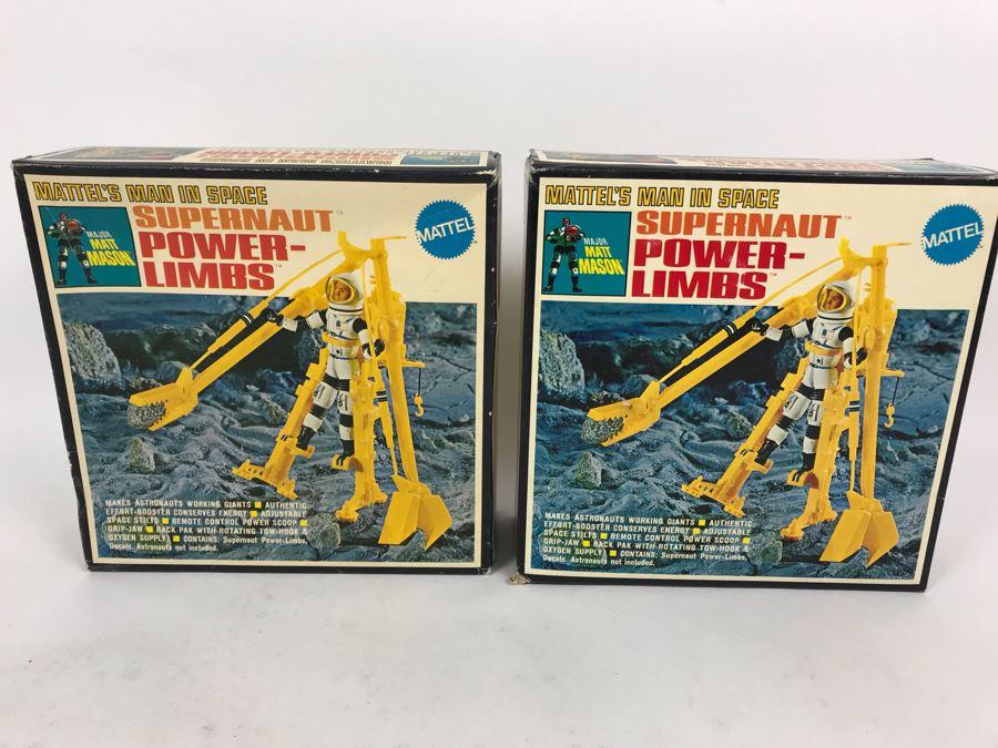 Pair Of Vintage 1969 New In Box Mattel's Man In Space Supernaut Power-Limbs Major Matt Mason 6343 [Photo 1]