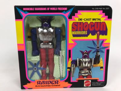 Vintage 1977 New In Box Mattel Shogun Warriors Raider Die-Cast Metal Robot Toy Action Figure