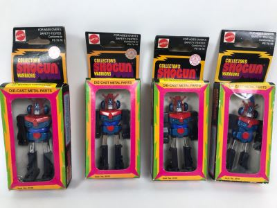 (4) Vintage 1978 Mattel Shogun Warriors Collector's Series Combatra Diecast Metal Action Figure Robot 2518 2512