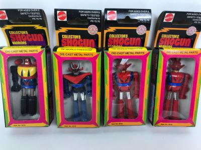(4) Vintage 1978 Mattel Shogun Warriors Collector's Series Diecast Metal Action Figure Robot: (1) Poseidon 2513, (1) Great Mazinga 2516, (2) Dragun 2515 2518