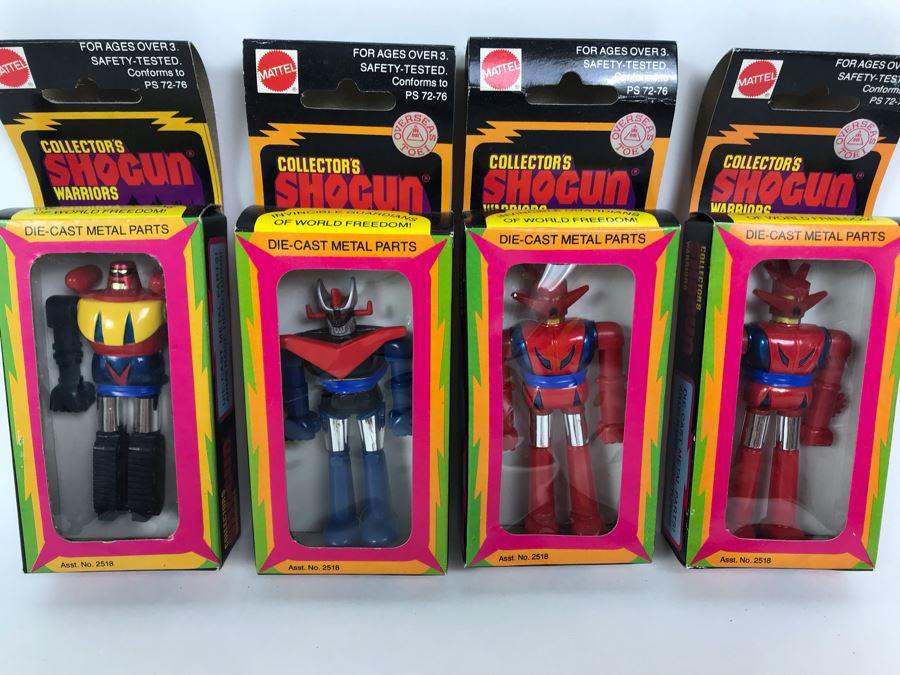 (4) Vintage 1978 Mattel Shogun Warriors Collector's Series Diecast Metal Action Figure Robot: (1) Poseidon 2513, (1) Great Mazinga 2516, (2) Dragun 2515 2518 [Photo 1]