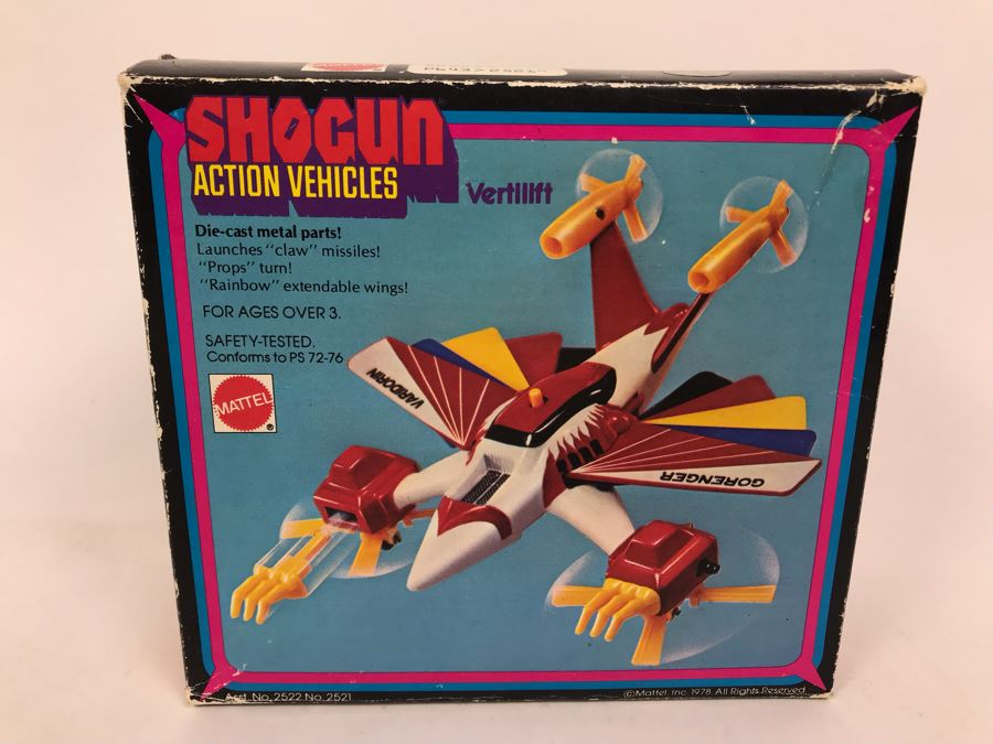 Vintage 1978 Mattel Shogun Warriors Action Vehicles Vertilift Die-Cast Metal Parts 2522 With Box [Photo 1]
