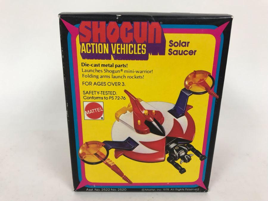 Vintage 1978 New In Box Mattel Shogun Warriors Action Vehicles Solar Saucer Die-Cast Metal Parts 2520 [Photo 1]