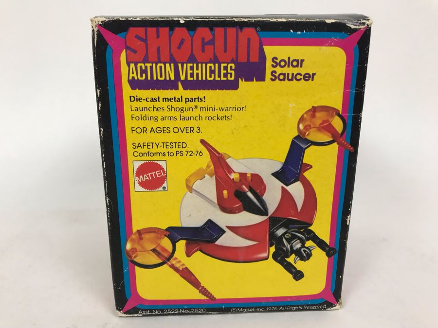 Vintage 1978 Mattel Shogun Warriors Action Vehicles Solar Saucer Die-Cast Metal Parts 2520 With Box [Photo 1]