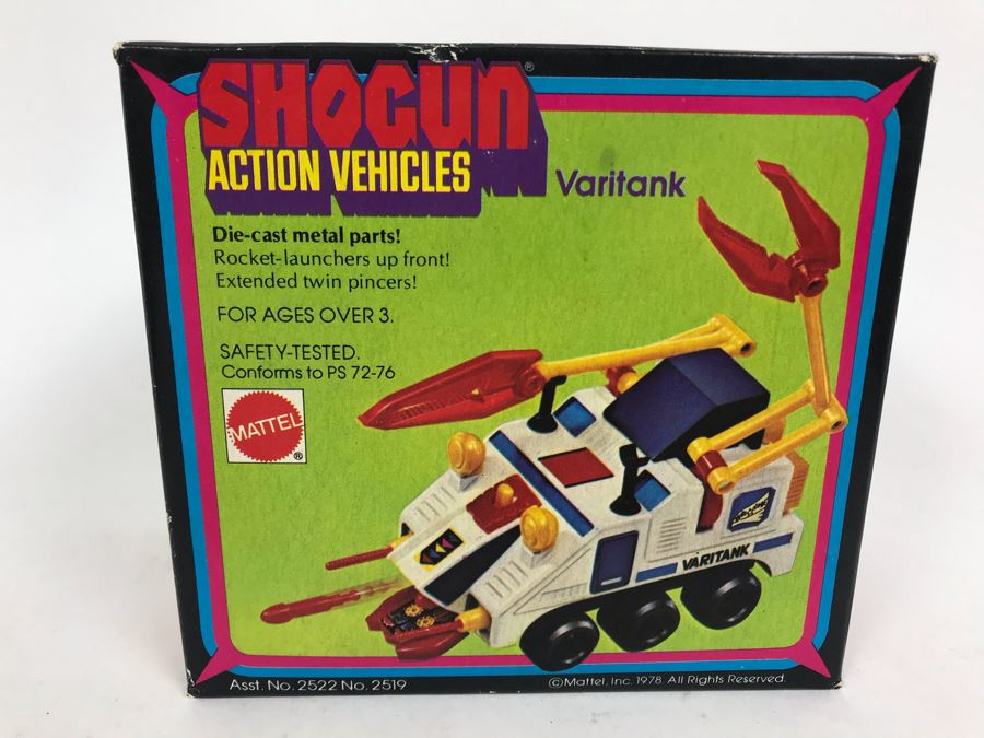 Vintage 1978 New In Box Mattel Shogun Warriors Action Vehicles Varitank Die-Cast Metal Parts 2519 [Photo 1]