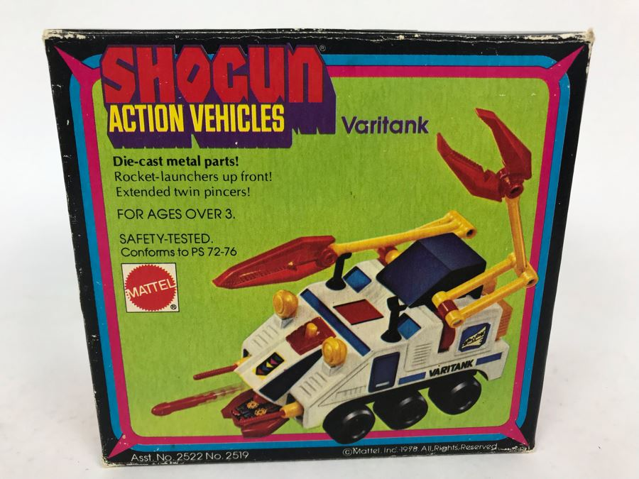 Vintage 1978 Mattel Shogun Warriors Action Vehicles Varitank Die-Cast Metal Parts 2519 With Box [Photo 1]