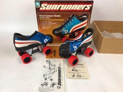 Vintage 1978 Mattel Sunrunners Roller Skates New In Box Size 3-5