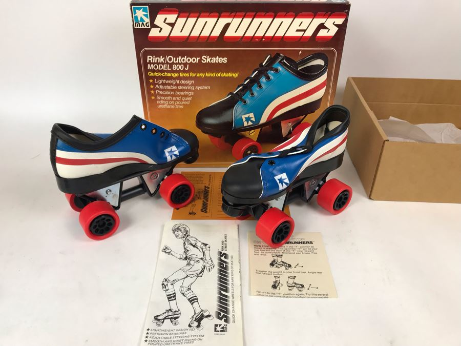 Vintage 1978 Mattel Sunrunners Roller Skates New In Box Size 3-5 [Photo 1]