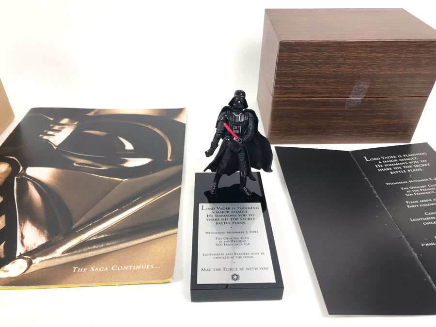 Very Rare Exclusive Lord Vader Action Figure 2003 Invitation Directly From George Lucas Licensing The Presidio San Francisco, CA Lucas Films With Star Wars Promotional The Saga Continues Program [Photo 1]