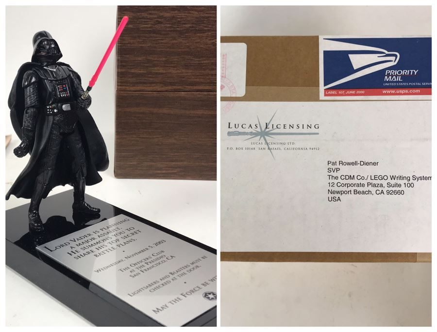 Sealed Very Rare Exclusive Lord Vader Action Figure 2003 Invitation Directly From George Lucas Licensing The Presidio San Francisco, CA Lucas Films Star Wars