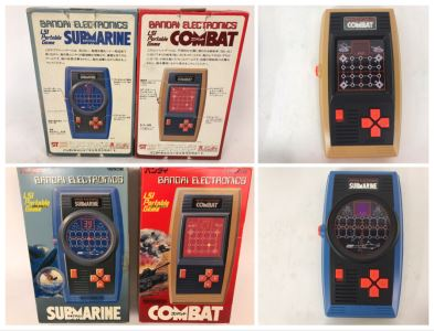 Pair Of Rare Bandai Electronics LSI Portable Handheld Games Submarine And Combat Japanese New In Box