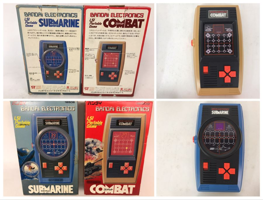 Pair Of Rare Bandai Electronics LSI Portable Handheld Games Submarine And Combat Japanese New In Box [Photo 1]