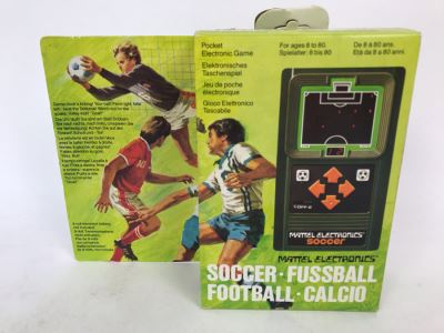 Vintage 1978 Mattel Electronics Portable Handheld Game Soccer Fussball Football New In Box