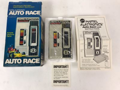 Vintage 1976 Mattel Electronics Portable Handheld Game Auto Race New In Box