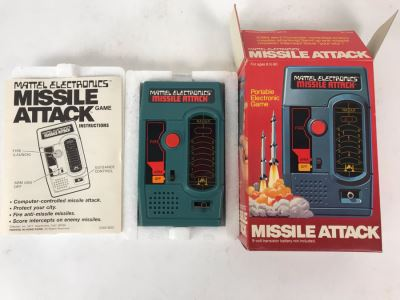 Vintage 1977 Mattel Electronics Portable Handheld Games Missile Attack New In Box